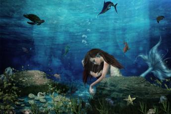 Картинка фэнтези фотоарт русалка