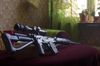 обоя svds, оружие, снайперская винтовка, ствол
