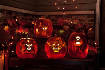 Картинка праздничные хэллоуин тыква свет