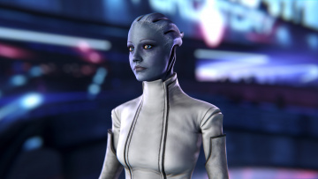 Картинка видео+игры mass+effect liara tsoni mass effect asari scientist