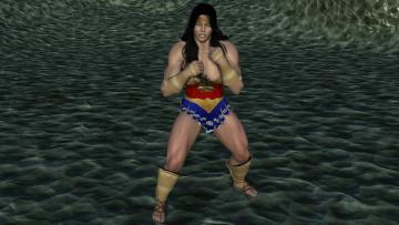 Картинка 3д+графика фантазия+ fantasy девушка взгляд фон супермен