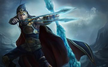 Картинка видео игры league of legends лучник стрелы