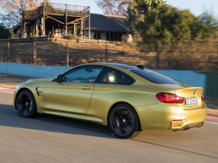 Картинка автомобили bmw za-spec coupе m4 желтый 2014г f82