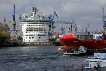 Картинка elbblick корабли порты+ +причалы порт причалы суда гавань