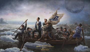 Картинка фэнтези люди переправа лодки