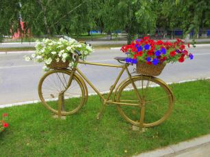 обоя разное, садовые и парковые скульптуры, велосипед