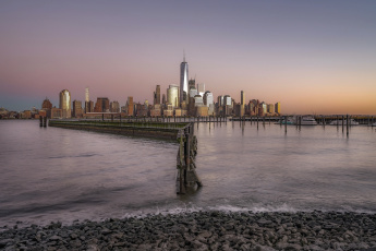 обоя manhattan, города, нью-йорк , сша, побережье