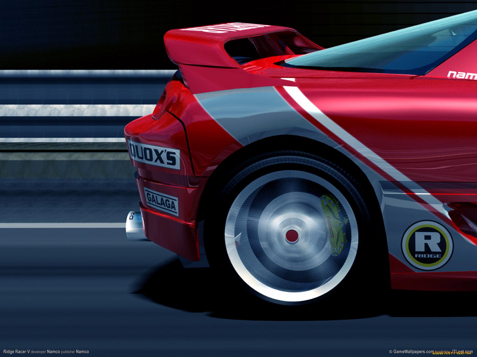 белый спортивный автомобиль Ridge Racer 7 игра загрузить