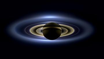 Картинка космос арт планета кольца
