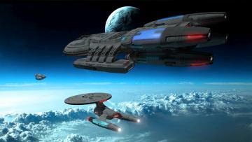 Картинка видео+игры star+trek+online вселенная полет космический корабль