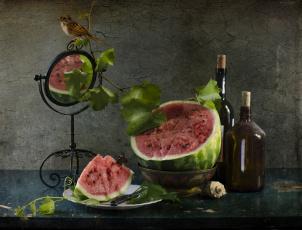 обоя еда, арбуз, август, лето, натюрморт, светлана, андреянова, фрукты