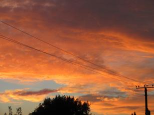обоя природа, восходы, закаты, закат, оранжевый