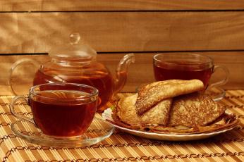 обоя еда, блины,  оладьи, композициия, масленица, натюрморт, чаепитие, чай