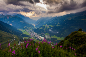 обоя природа, горы, далина