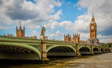 обоя города, лондон , великобритания, мост, река
