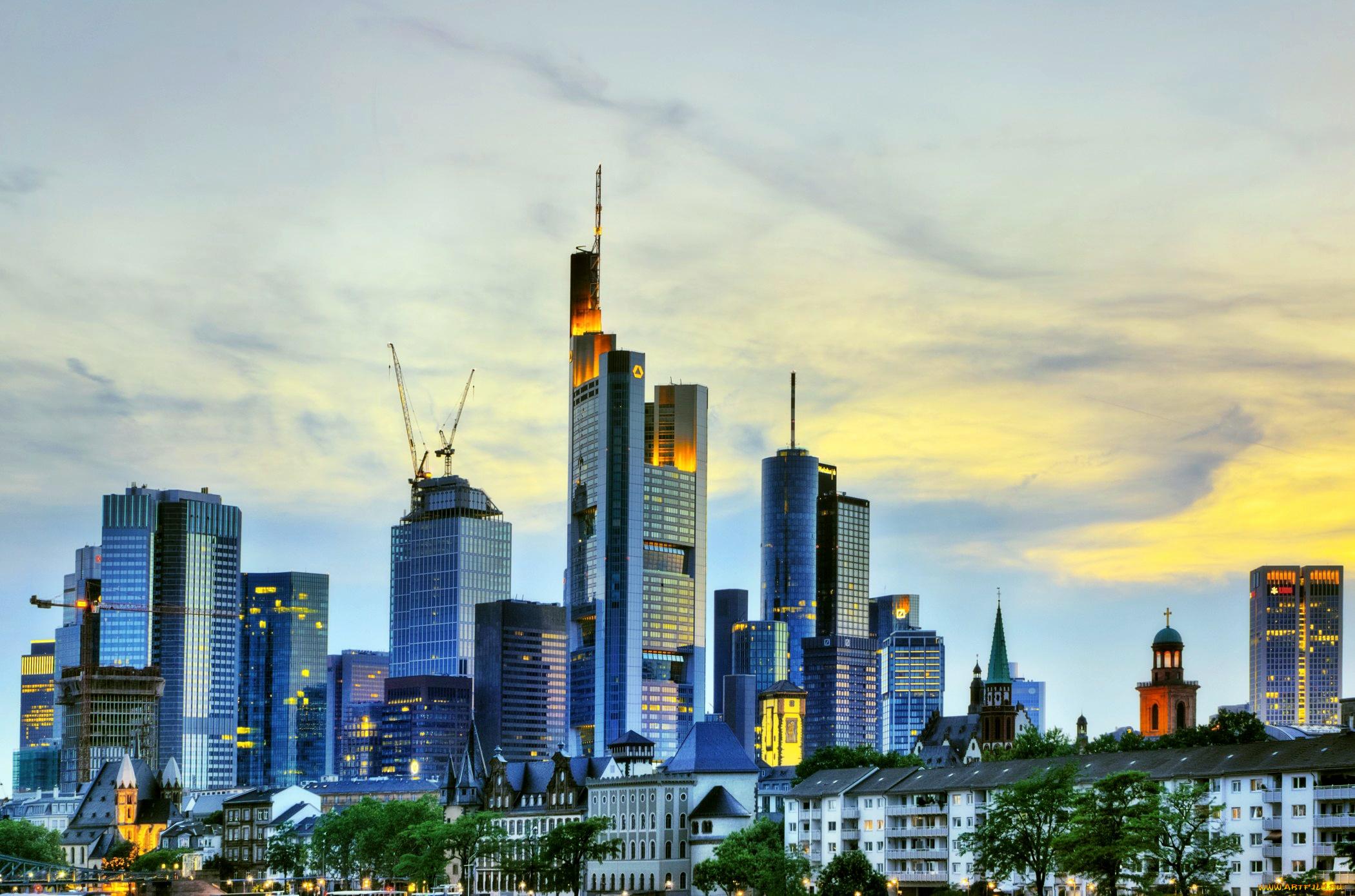 страны архитектура Франкфурт-на-Майне Германия  № 1468113  скачать