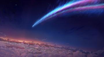 Картинка космос кометы метеориты комета