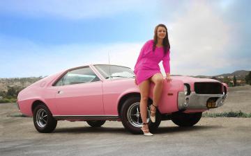 обоя автомобили, -авто с девушками, amx
