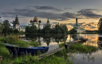 обоя корабли, лодки,  шлюпки, свято-троицкий, антониево-сийский, мужской, монастырь, архангельская, область