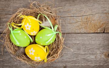 обоя праздничные, пасха, holiday, happy, colorful, весна, easter, wood, яйца, spring, eggs