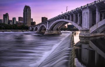обоя minneapolis minnesota, города, - мосты, мост, река