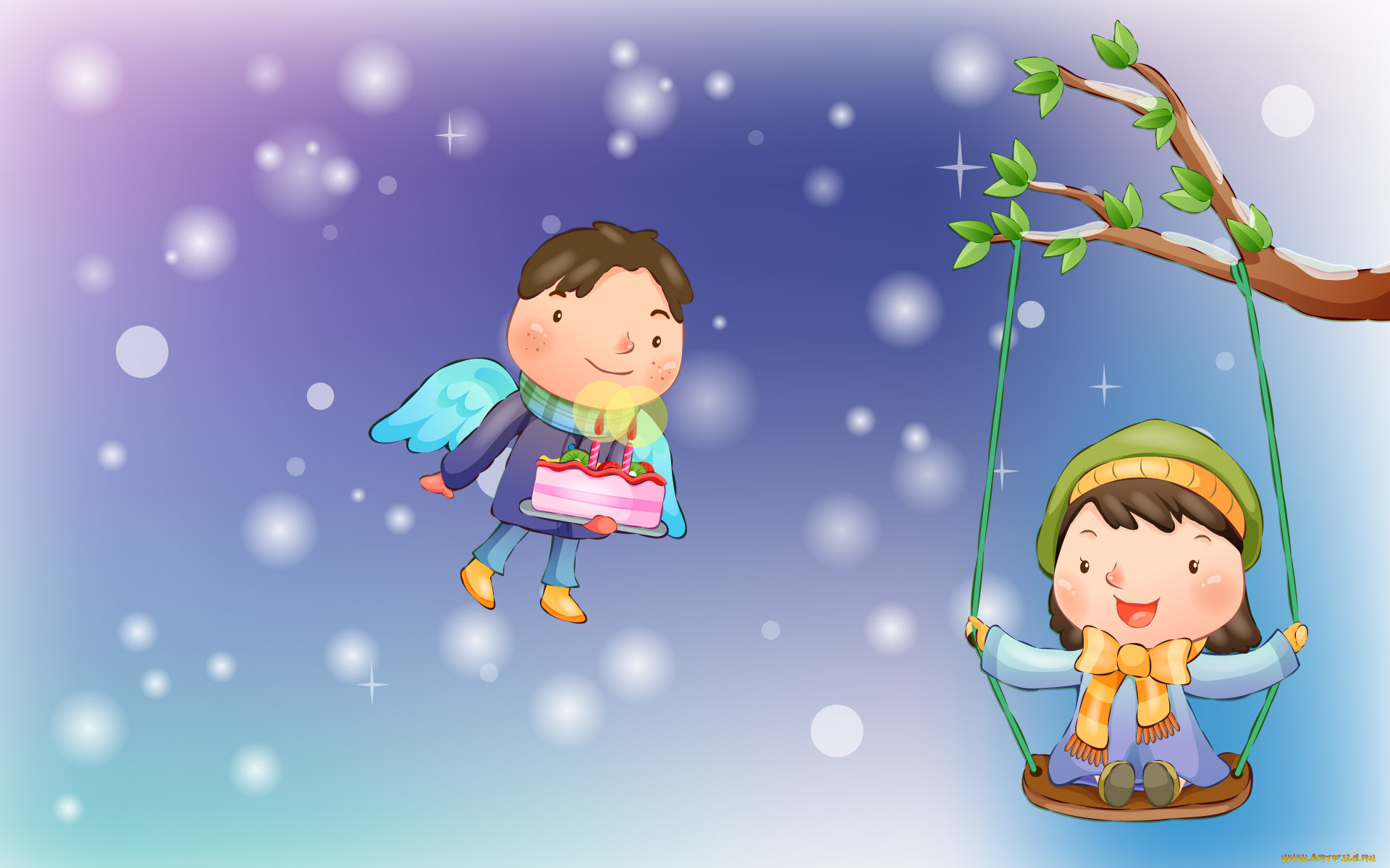 Рисунок счастливые дети