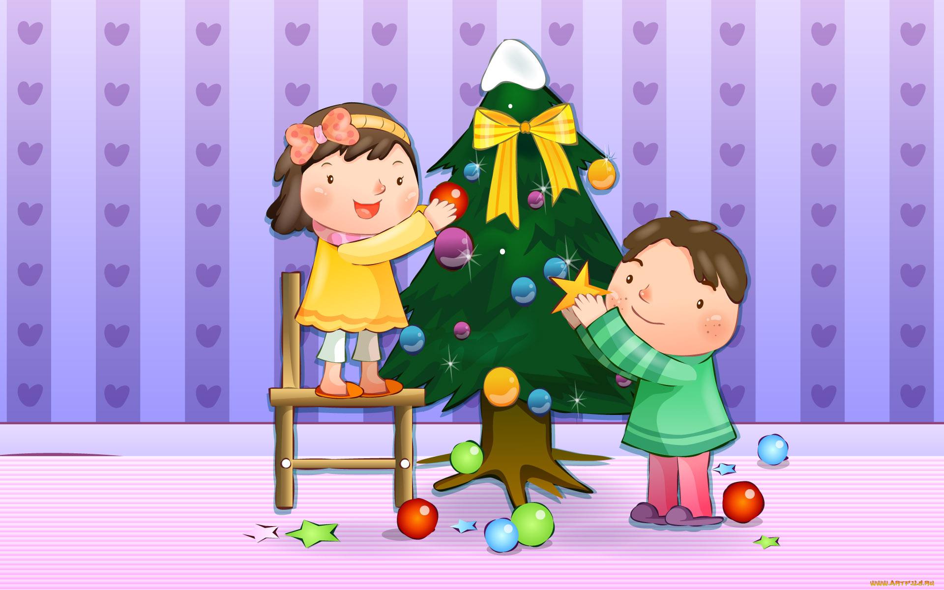Картинки наряженная елка для детей