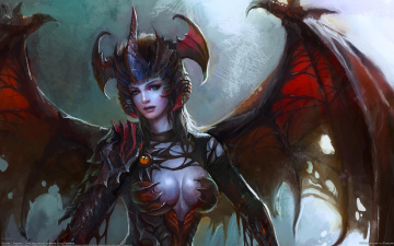 Картинка songnan li фэнтези демоны девушка демоница