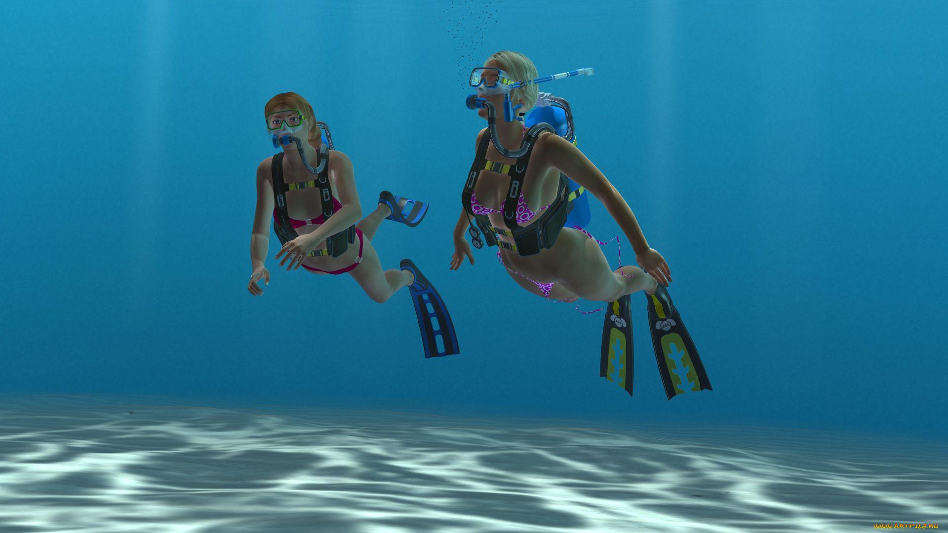 Графика под водой  № 2252472  скачать