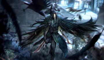 Картинка видео+игры bloodborne шляпа охотник art crow hunter rpg маска