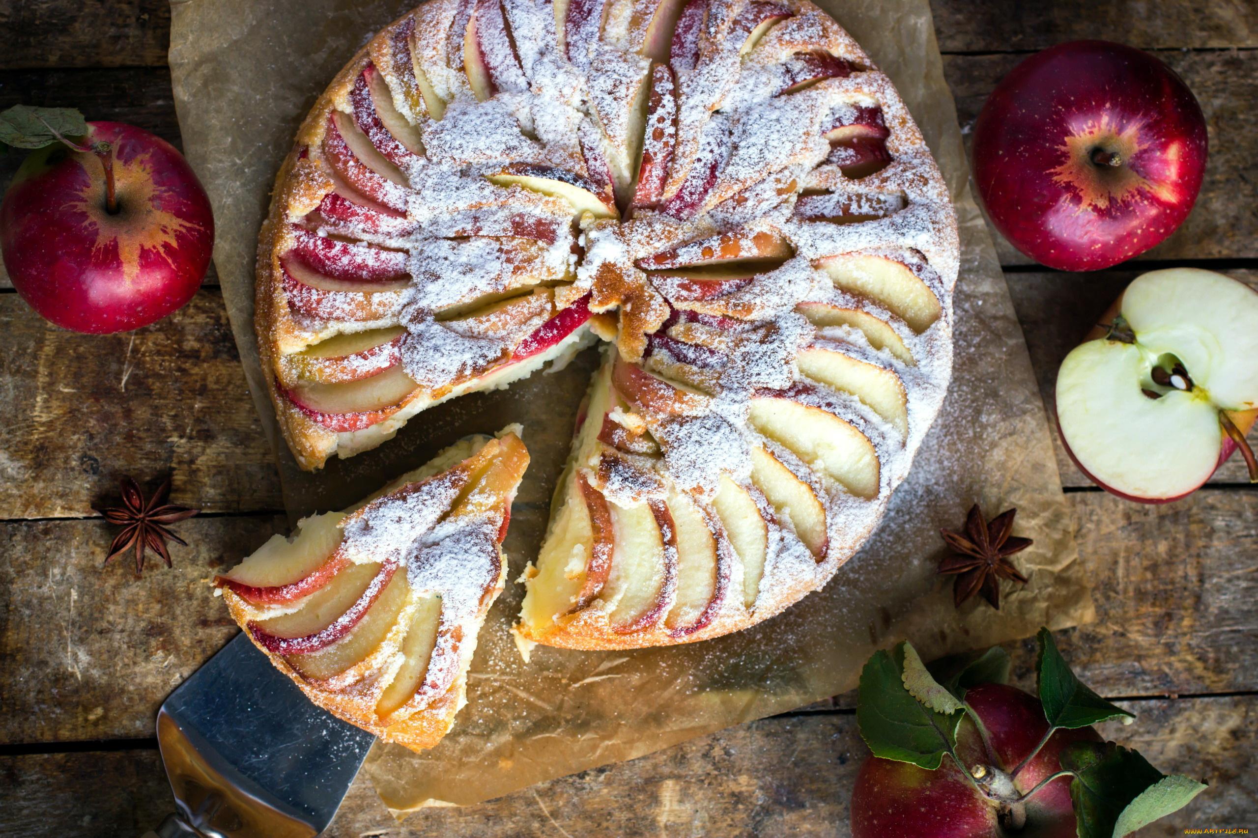 еда пирог яблочный шарлотка food pie Apple Charlotte скачать