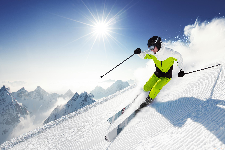 Лыжник в картинках, открытки новым годом