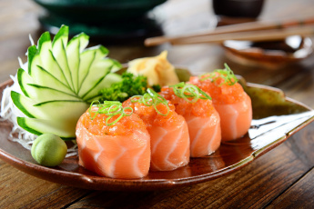 обоя еда, рыба,  морепродукты,  суши,  роллы, роллы