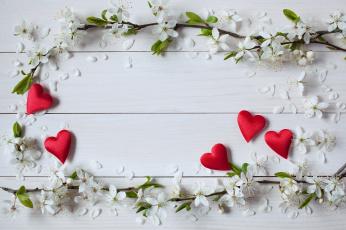 обоя праздничные, день святого валентина,  сердечки,  любовь, сердечки, цветы, праздник, день, святого, валентина