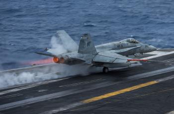 обоя mcdonnell douglas fa-18c hornet, авиация, боевые самолёты, истребитель