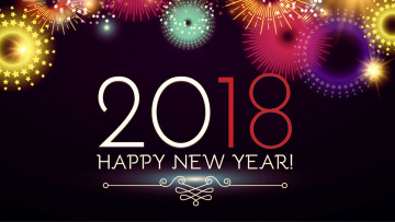 обоя праздничные, векторная графика , новый год, фон, цифры, праздник