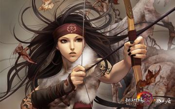 Картинка jx+online видео+игры jx+online+3 охотник лук девушка
