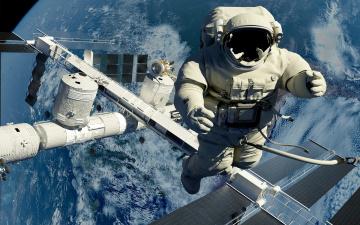 обоя космос, астронавты, космонавты, выход