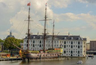 Картинка amsterdam корабли парусники каравелла