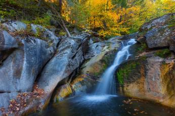 обоя природа, водопады, скалы, лес, водопад, деревья