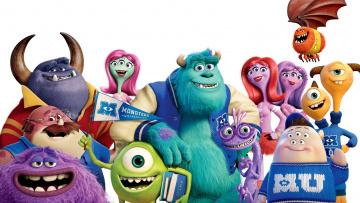 обоя monsters university, мультфильмы, персонажи