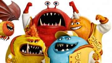 обоя мультфильмы, monsters university, персонажи