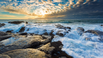 обоя природа, побережье, море, камни