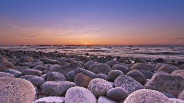 обоя природа, побережье, закат, камни, море