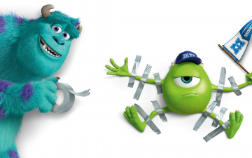 обоя мультфильмы, monsters university, персонаж