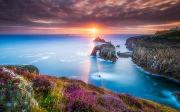 обоя природа, восходы, закаты, море, закат