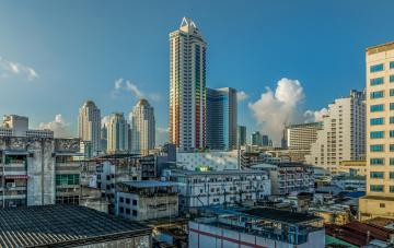 обоя downtown bangkok,  tha&, 239, land, города, бангкок , таиланд, башня