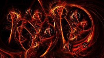 Картинка 3д графика abstract абстракции узор тёмный фон
