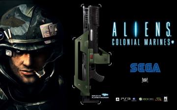 Картинка aliens colonial marines видео игры солдат оружие