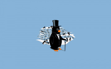 Картинка рисованные минимализм пингвины
